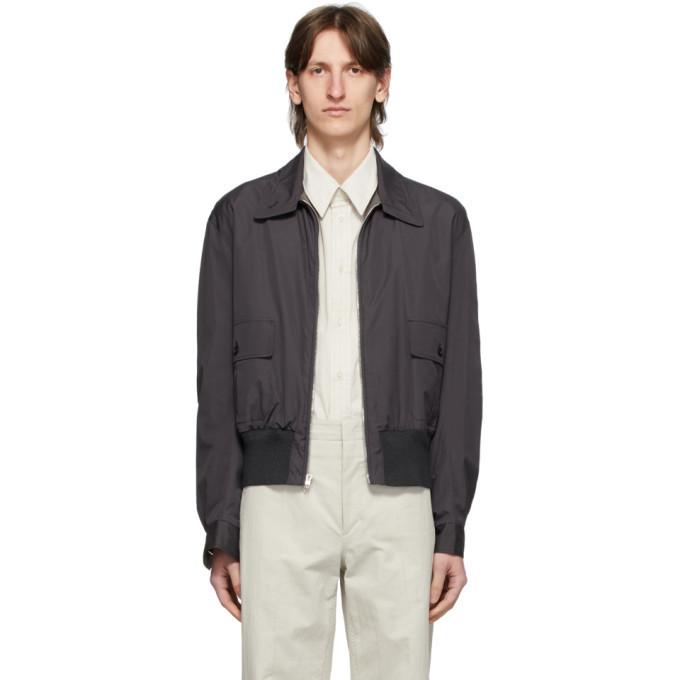 Photo: Lemaire Reversible Grey Straight Collar Blouson Jacket