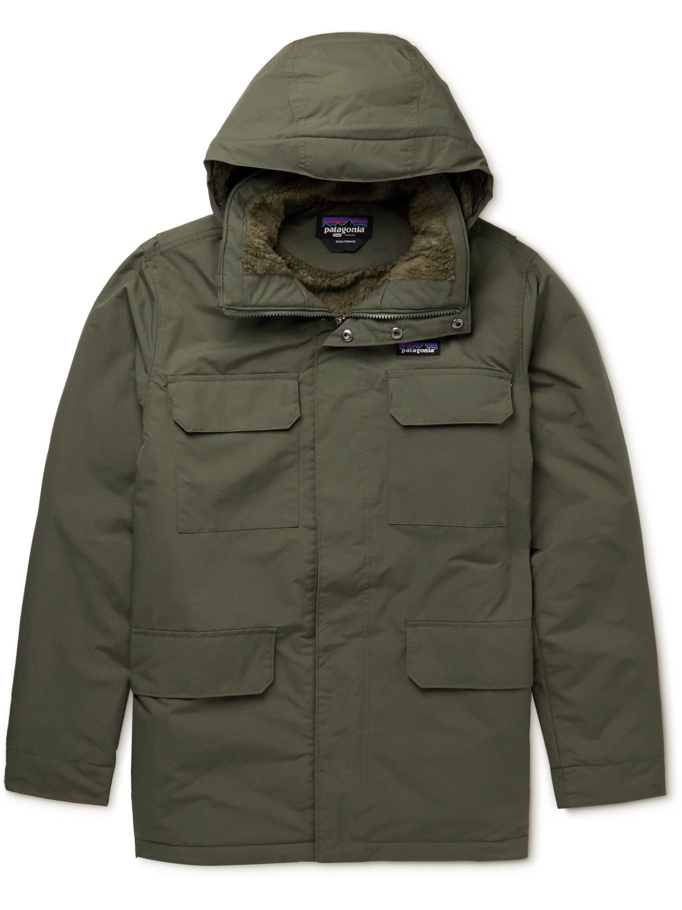 Photo: Patagonia - Isthmus Padded Recycled NetPlus Hooded Parka - Green