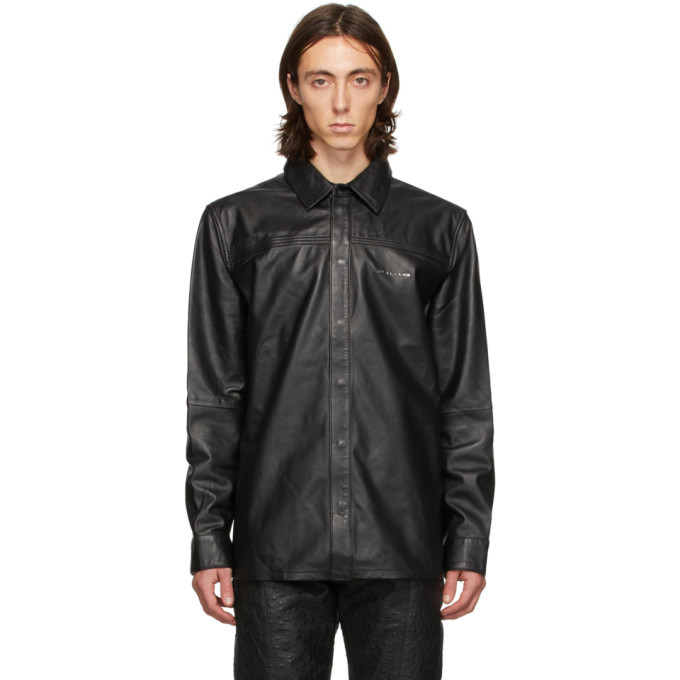 Photo: 1017 ALYX 9SM Black Leather Drake Shirt