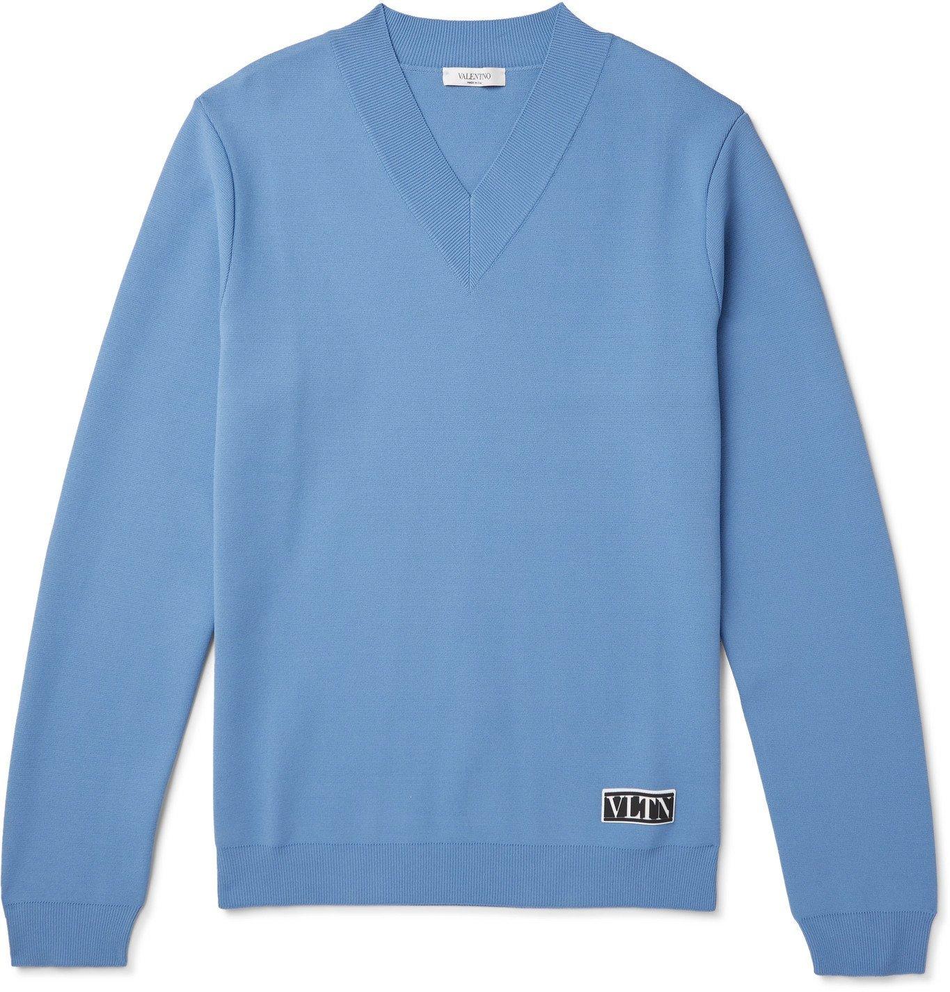 Photo: Valentino - Tech-Knit Sweater - Blue