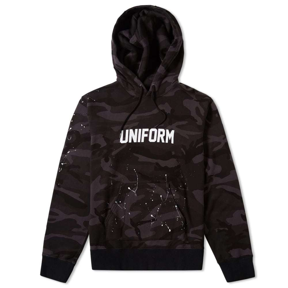 Photo: Uniform Experiment Camouflage Dripping Logo Hoody