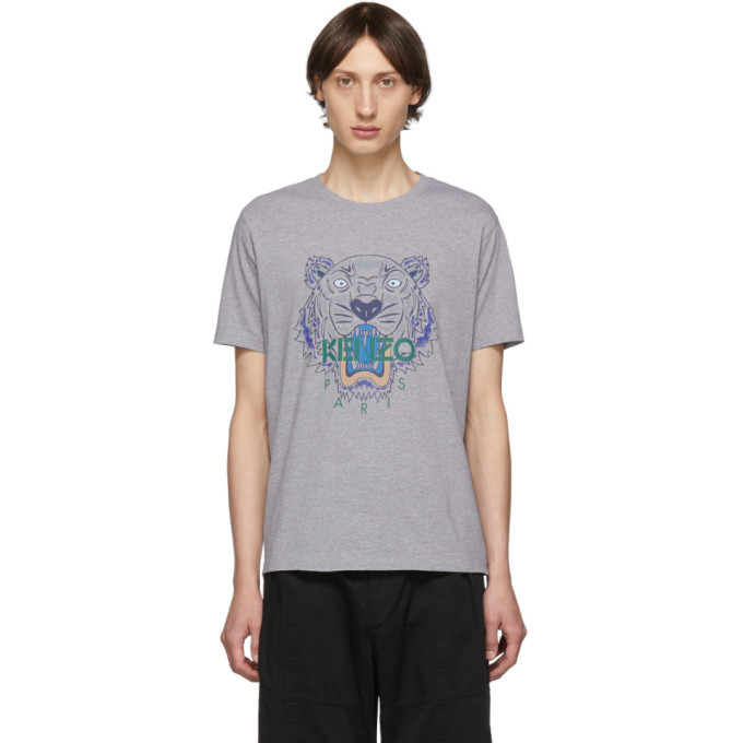 Photo: Kenzo Grey Icon Tiger T-Shirt