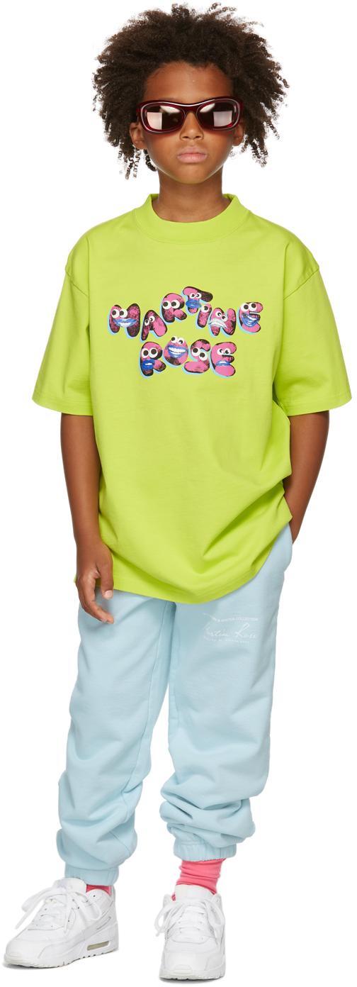 Photo: Martine Rose SSENSE Exclusive Kids Green Brittle T-Shirt