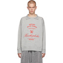 Raf Simons Grey Xanthophobic Collar Sweatshirt