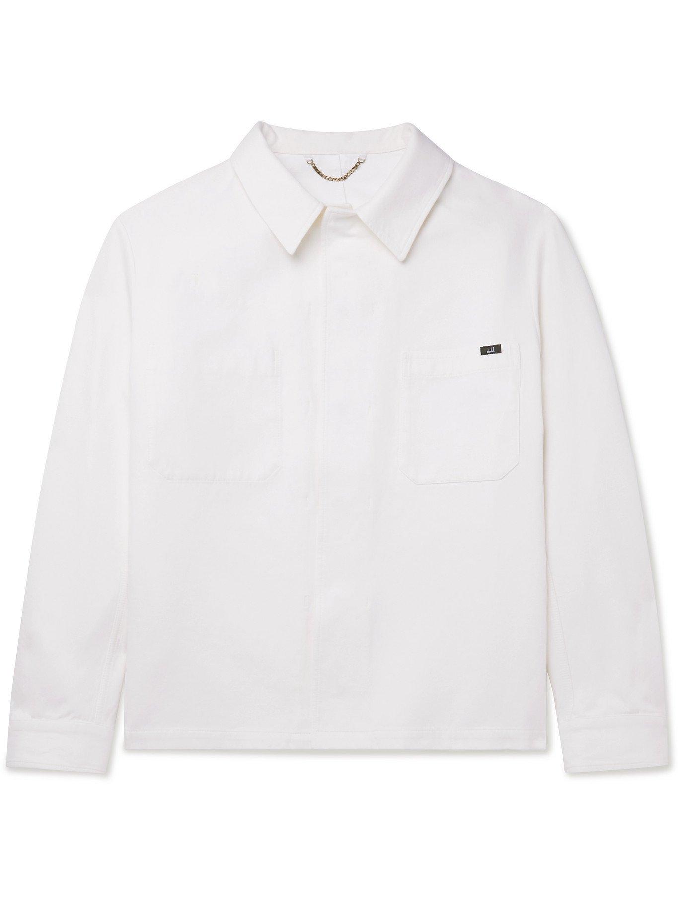 Photo: DUNHILL - Cotton and Mulberry Silk-Blend Gabardine Chore Jacket - Neutrals