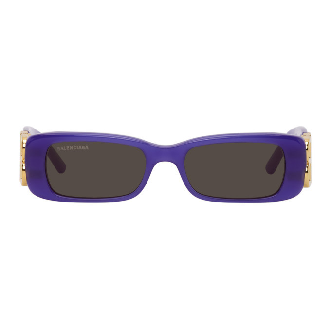 Photo: Balenciaga Purple Rectangular Sunglasses