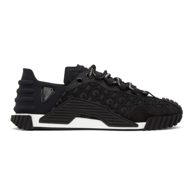 Photo: Dolce and Gabbana Black Lace NS1 Sneakers