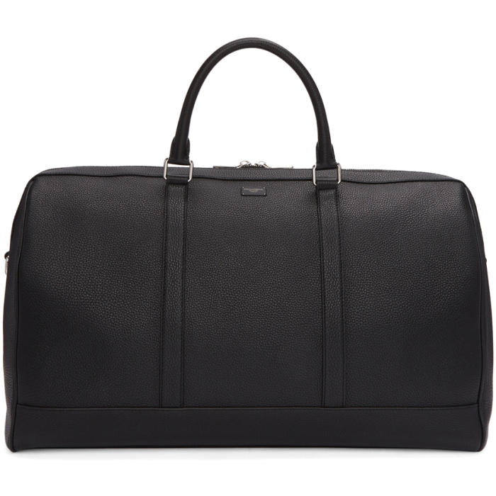 Photo: Dolce and Gabbana Black Leather Duffle Bag