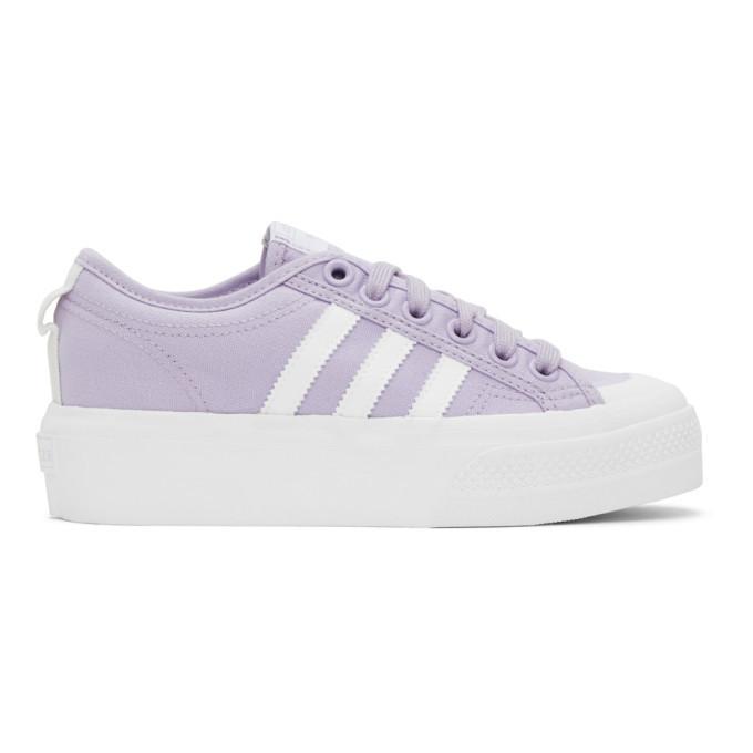 adidas Originals Purple Nizza Platform Sneakers