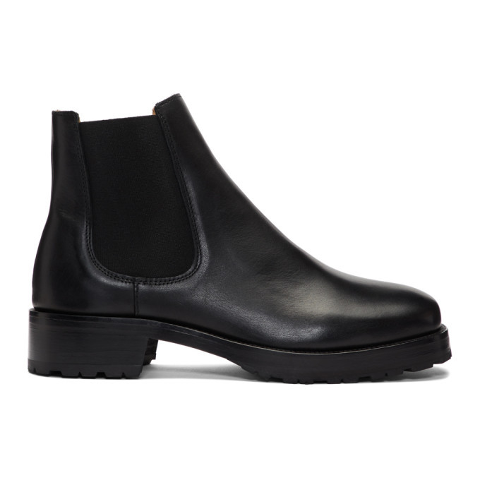 Photo: Tiger of Sweden Black Balans Chelsea Boots