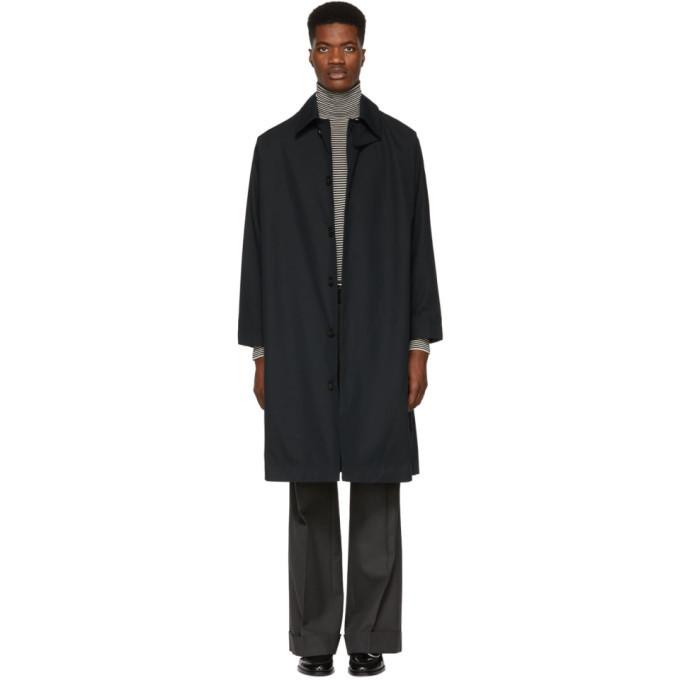 Photo: Studio Nicholson Navy Match Raincoat