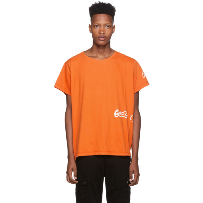 Photo: Greg Lauren Orange Logo Deconstructed T-Shirt