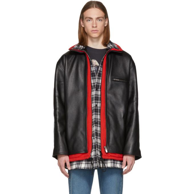 Photo: Balenciaga Black Leather Layered Jacket