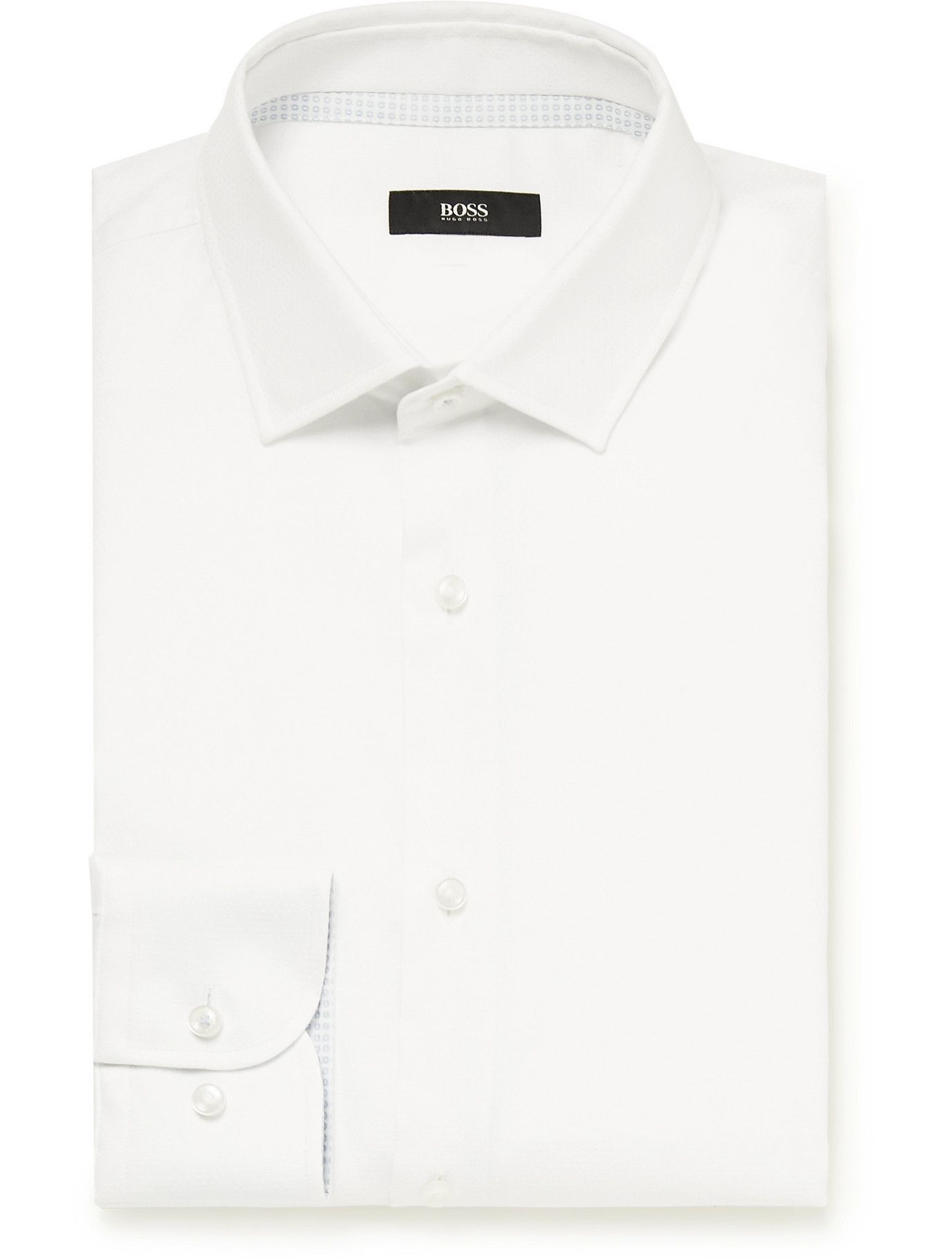 HUGO BOSS - Jesse Slim-Fit Cotton Shirt - White