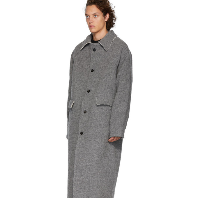 Kassl Editions Grey Wool Maxi Coat