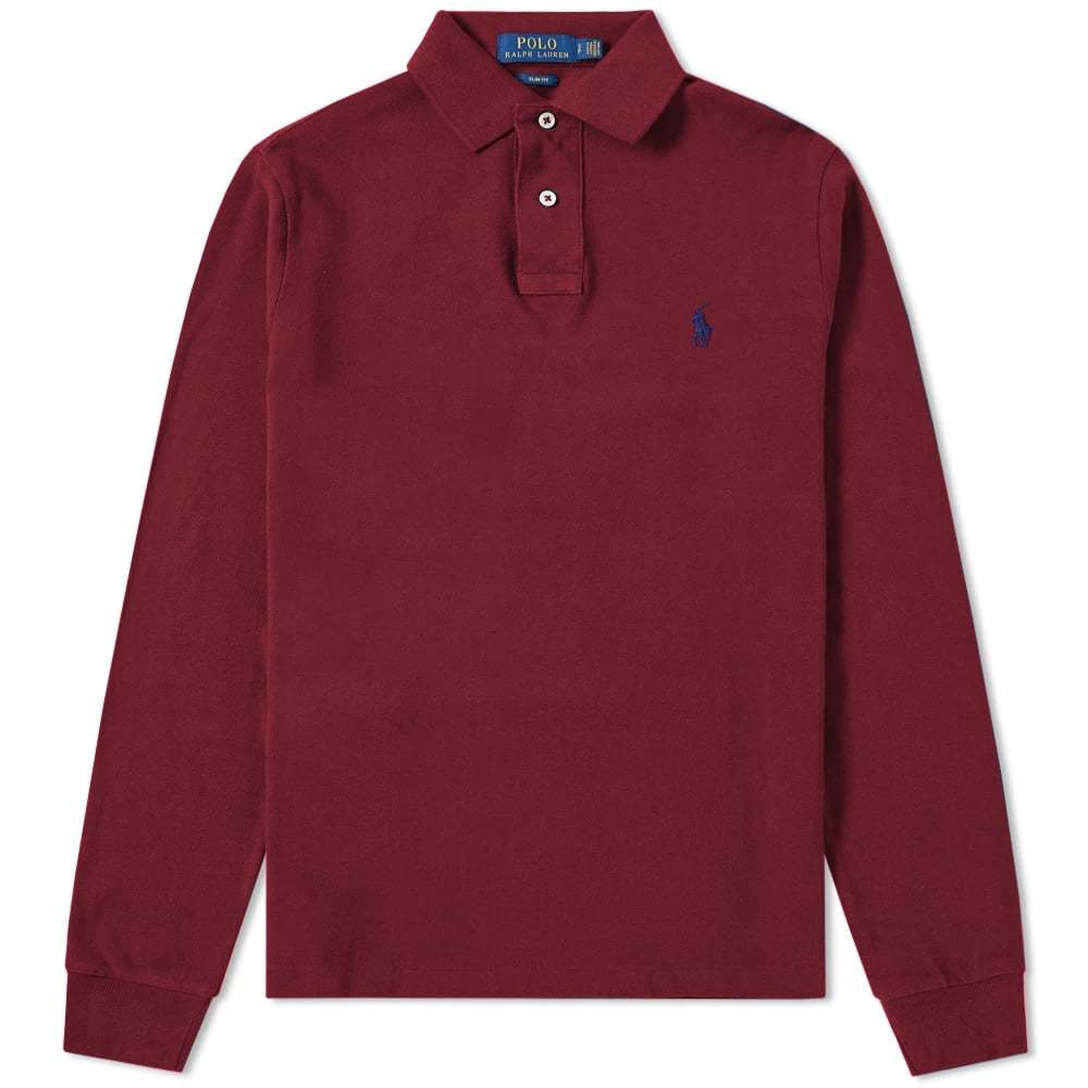 Photo: Polo Ralph Lauren Long Sleeve Slim Fit Polo