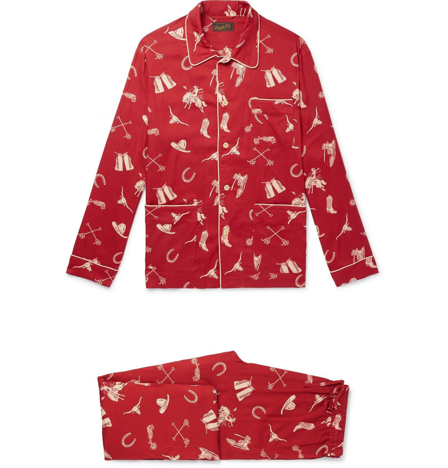 RRL - Printed Woven Pyjama Set - Red