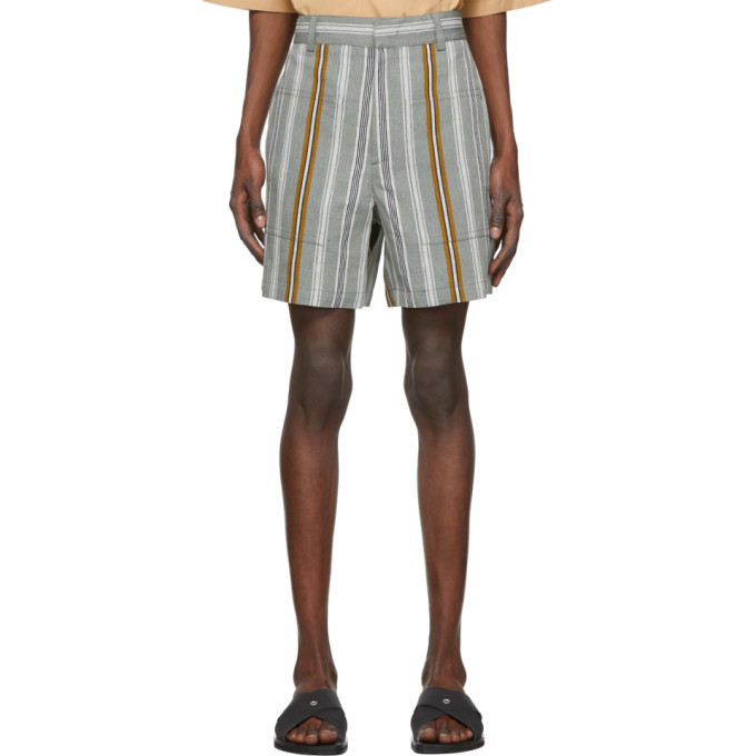 Photo: Jil Sander Multicolor Linen Stripe Shorts