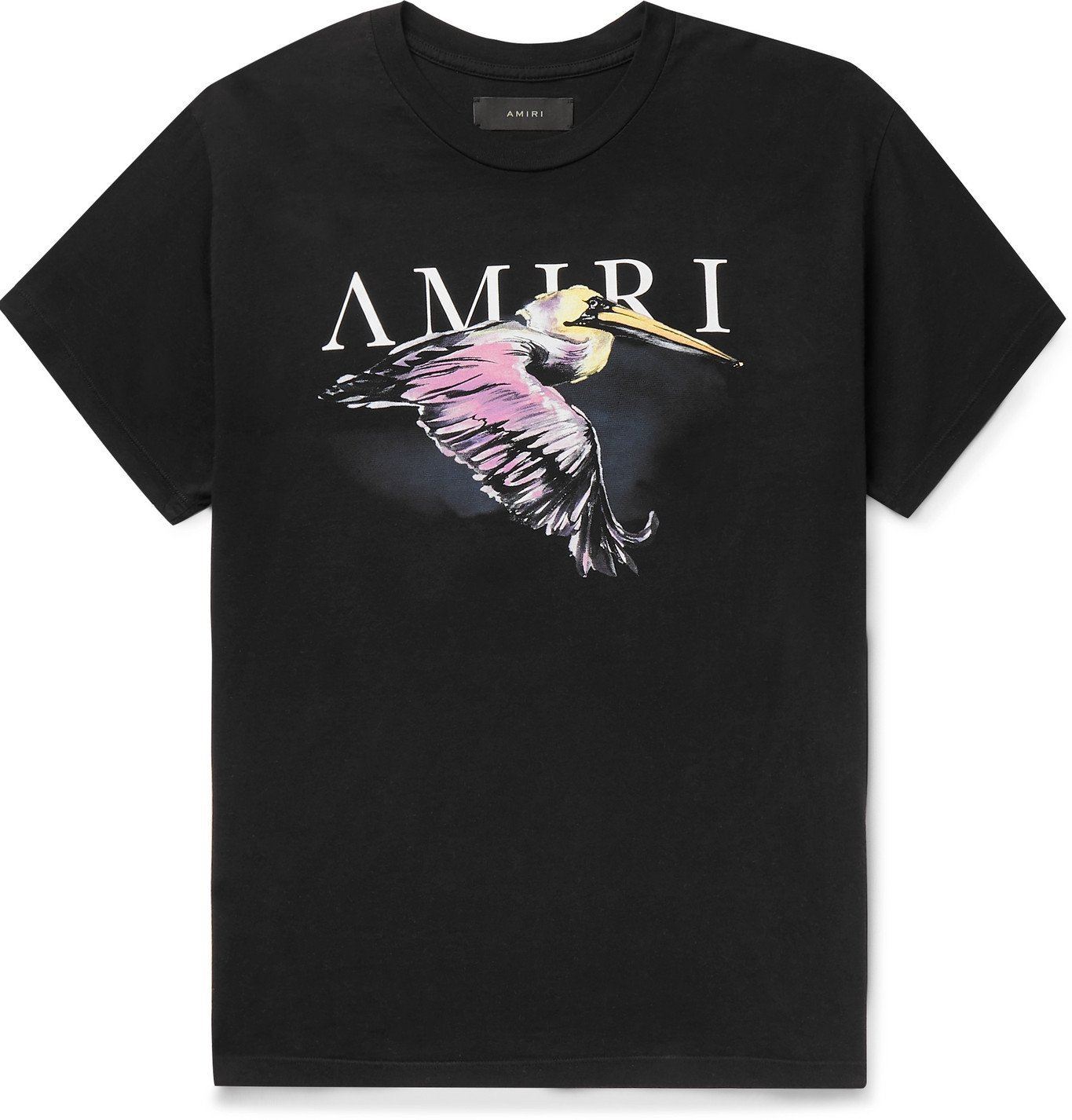 Photo: AMIRI - Logo-Print Cotton-Jersey T-Shirt - Black