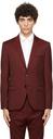 Hugo Burgundy Virgin Wool Arti204 Blazer