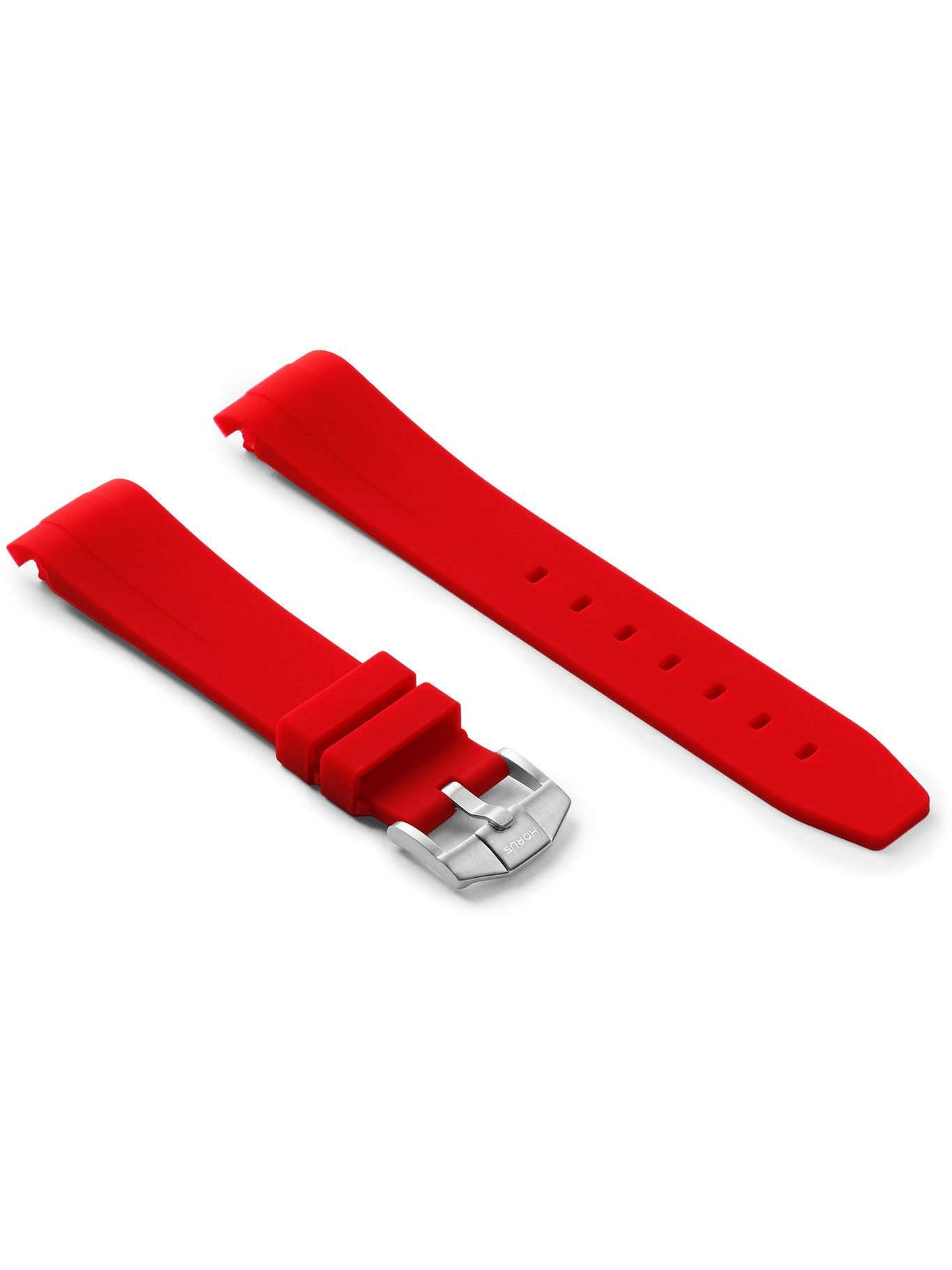 Photo: Horus Watch Straps - 20mm Rubber Integrated Watch Strap - Red