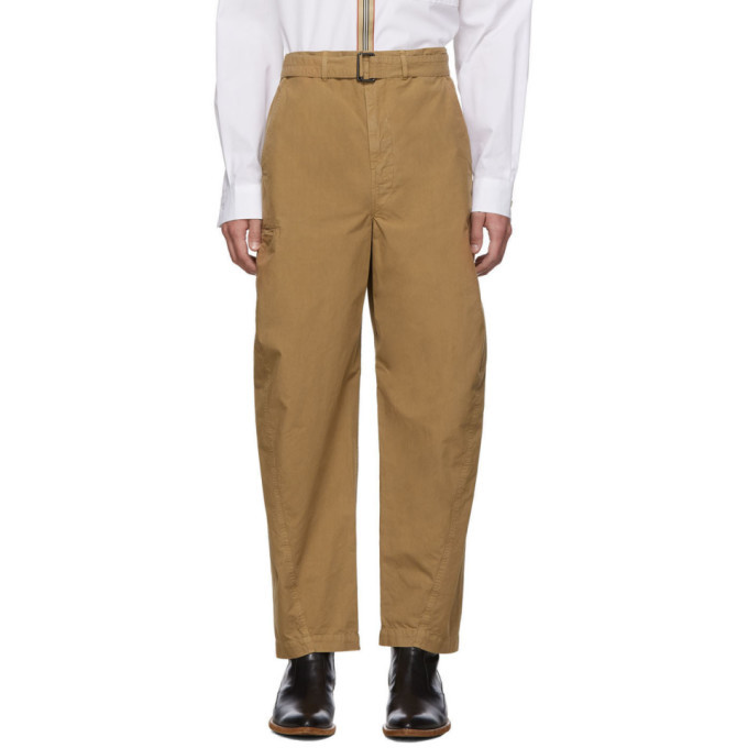 Lemaire Brown Twisted Trousers