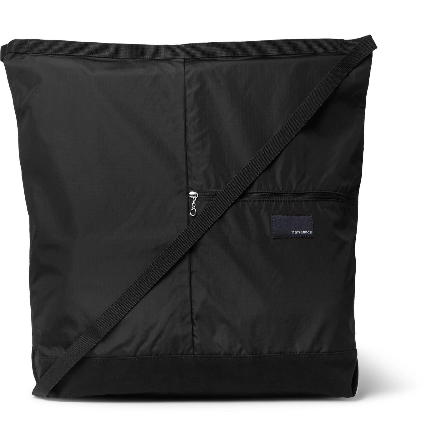 Photo: nanamica - Utility Large Ripstop and Microsuede Messenger Bag - Black