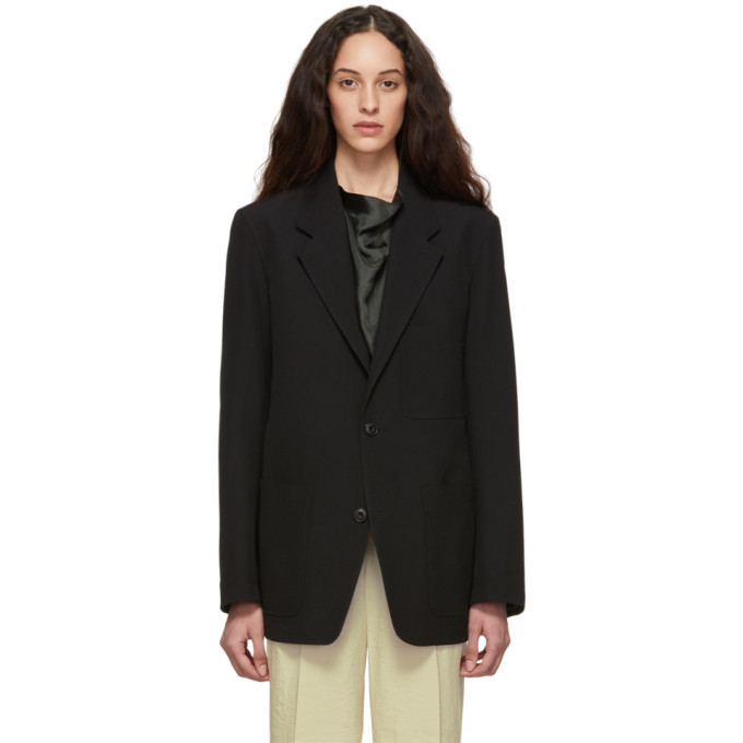 Photo: Lemaire Black Wool Single-Breasted Blazer