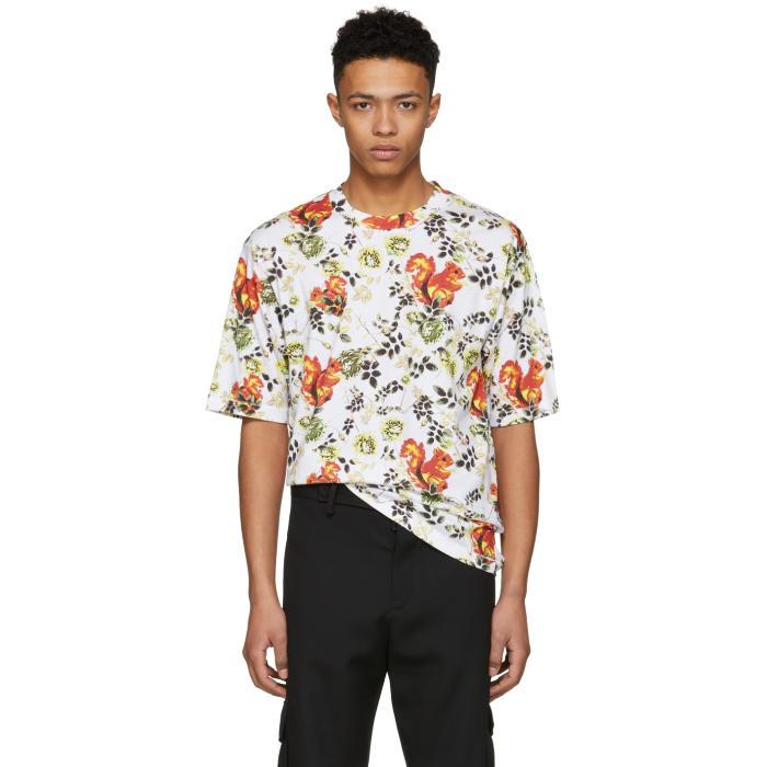 3.1 Phillip Lim White Surreal Squirrel Floral Box Cut T-Shirt