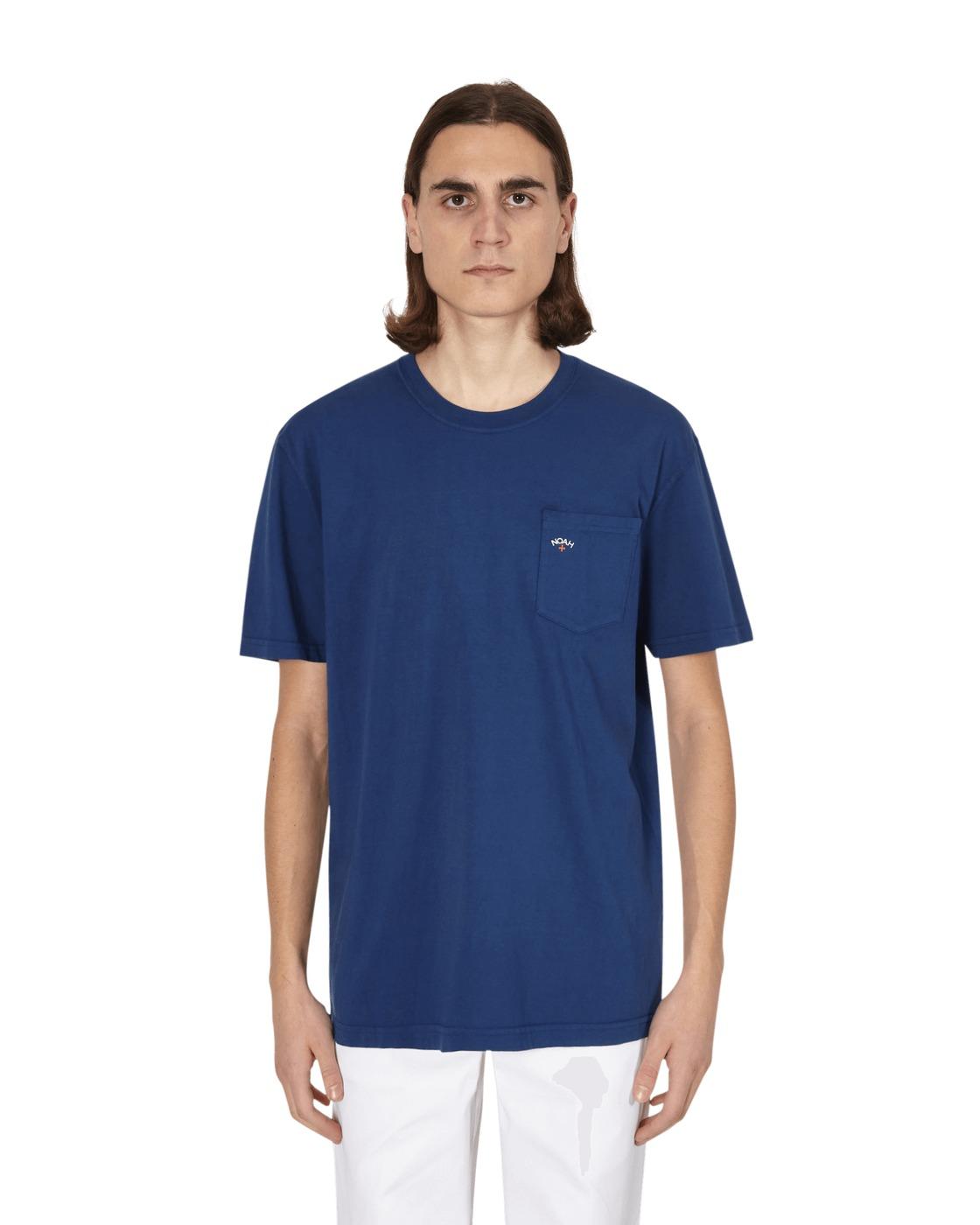 Noah Core Logo Pocket T Shirt True Navy