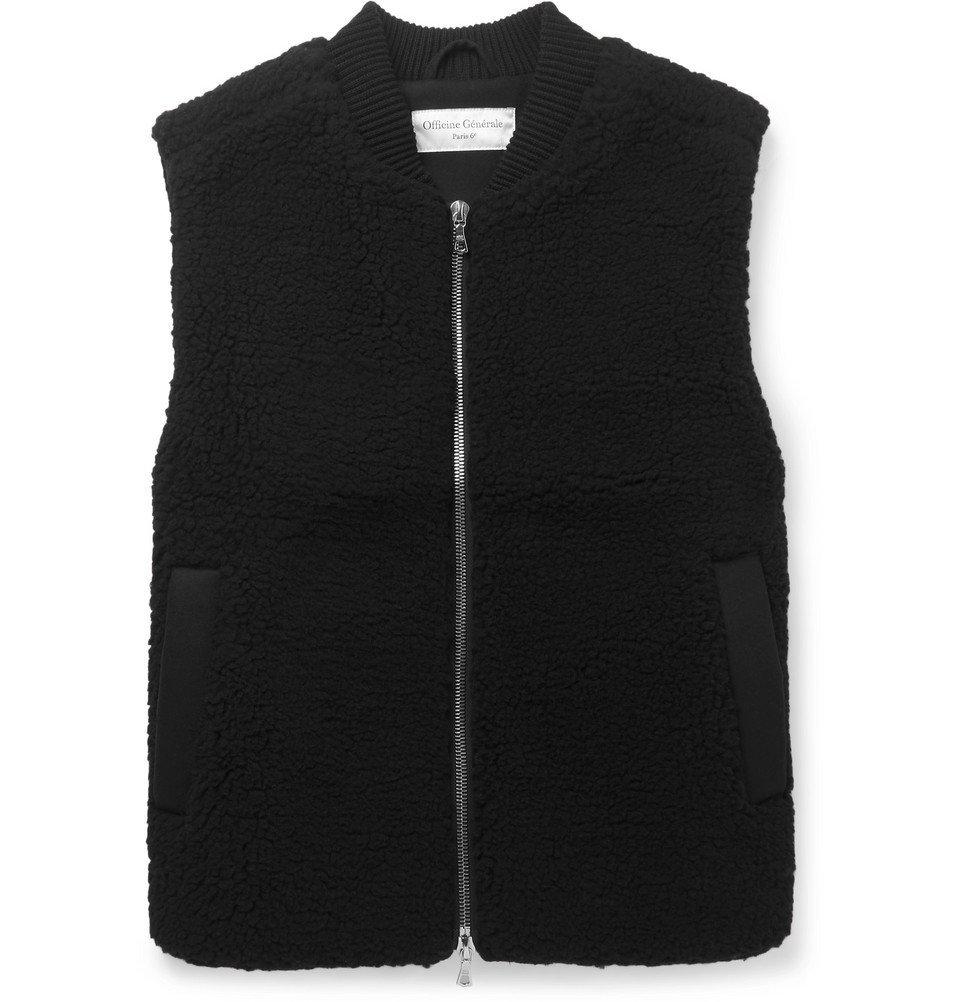Photo: Officine Generale - Wool-Blend Fleece Gilet - Men - Black