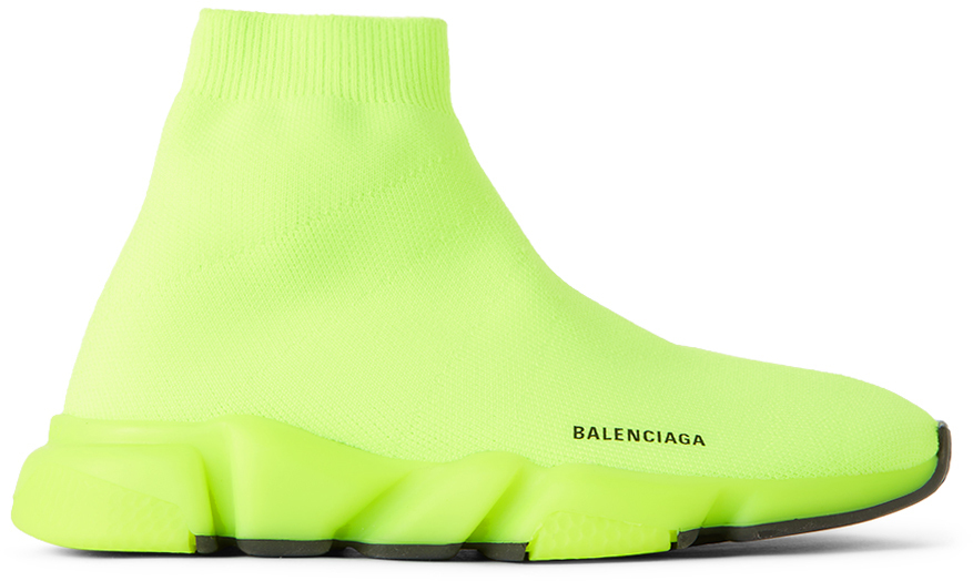 Photo: Balenciaga Kids Kids Green Speed Sneakers