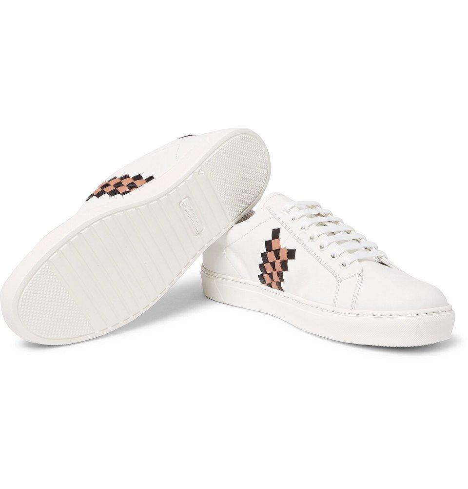 Bottega Veneta - Intrecciato-Panelled Leather Sneakers - Men - White
