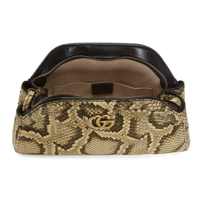 ab6623dd5b9b Gucci Yellow Python Rebelle Shoulder Bag Gucci