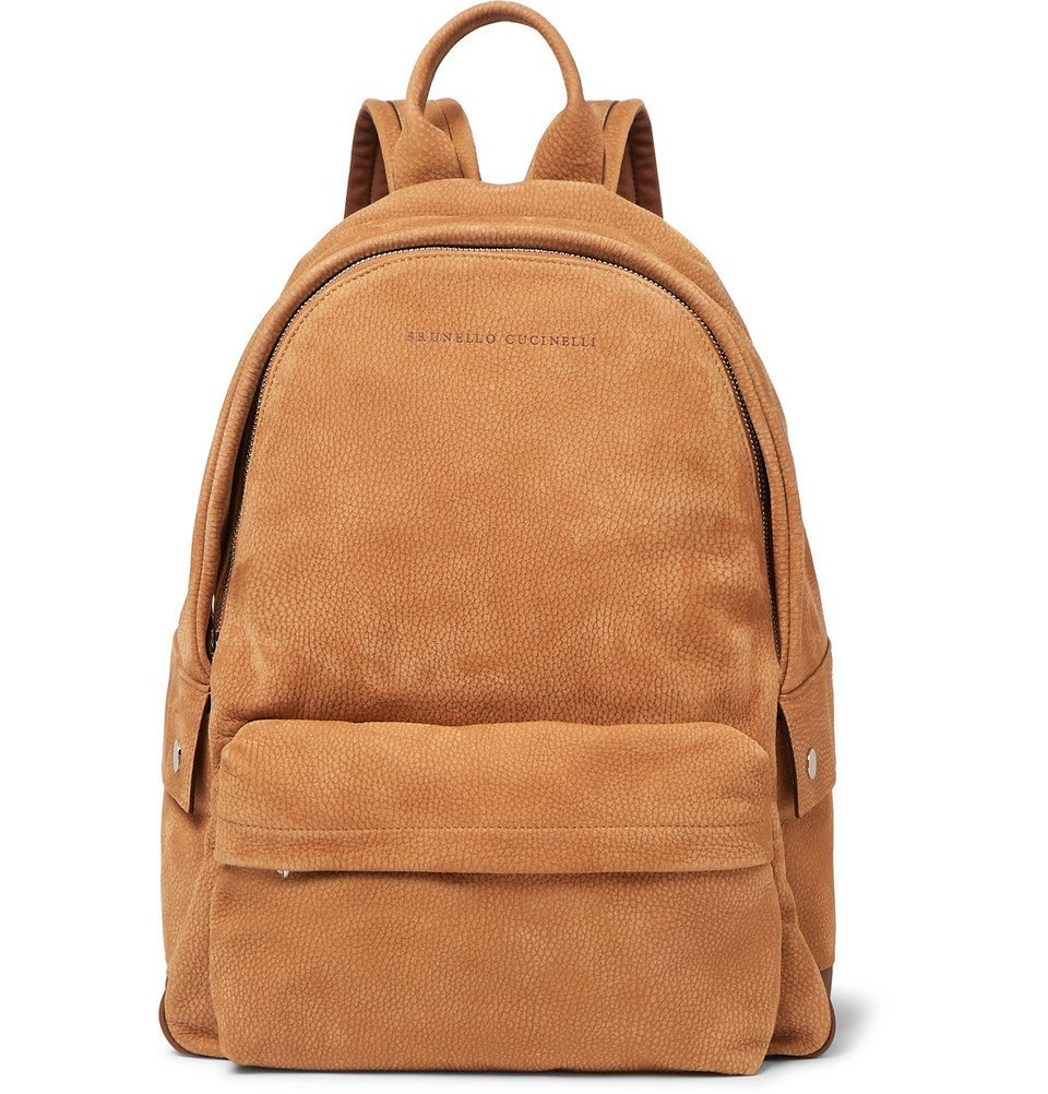 Photo: Brunello Cucinelli - Full-Grain Nubuck Backpack - Brown