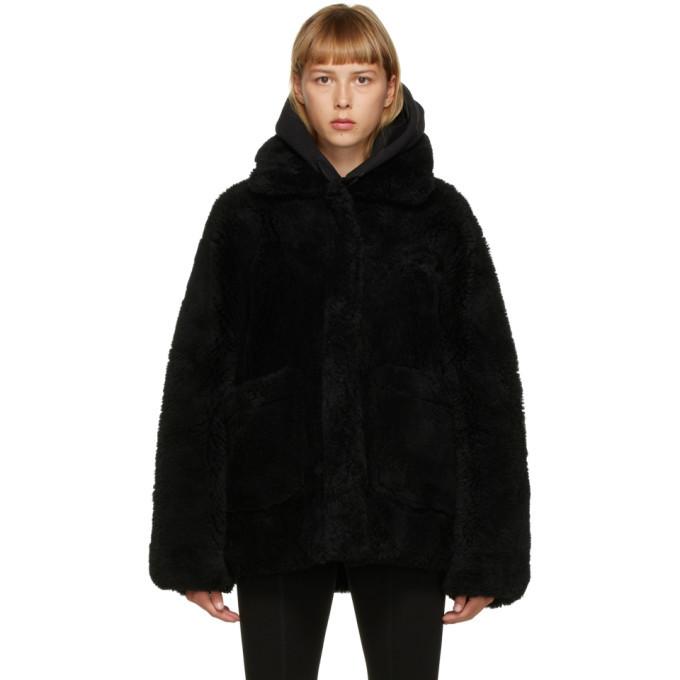 Photo: Yves Salomon - Meteo Black Shearling Coat