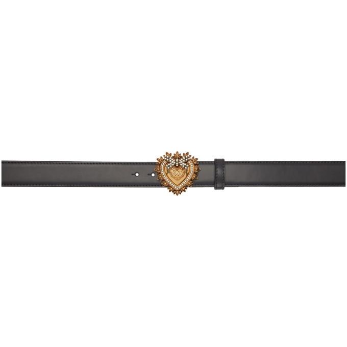 Photo: Dolce and Gabbana Black Devotion Belt