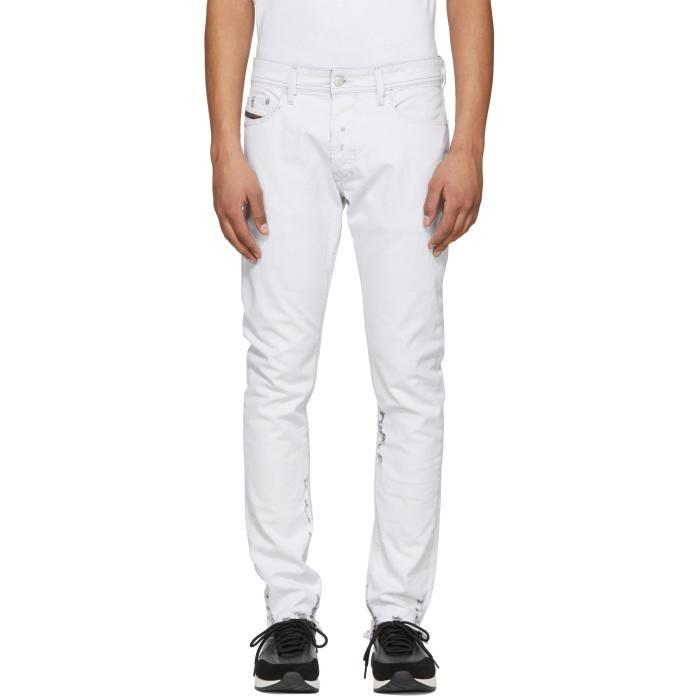 Photo: Diesel White Tepphar Jeans