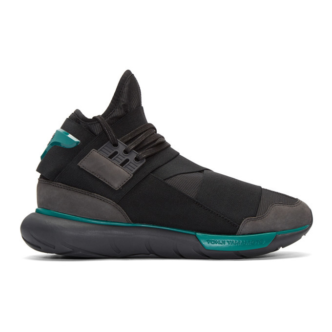 Photo: Y-3 Black Qasa High Sneakers
