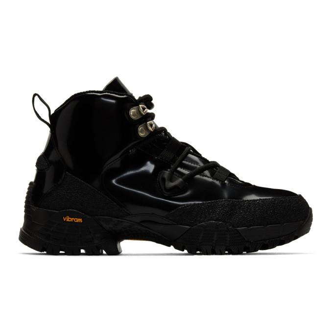 1017 ALYX 9SM Black Patent Hiking Boots