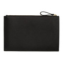 Smythson Black Panama Gusseted Pouch