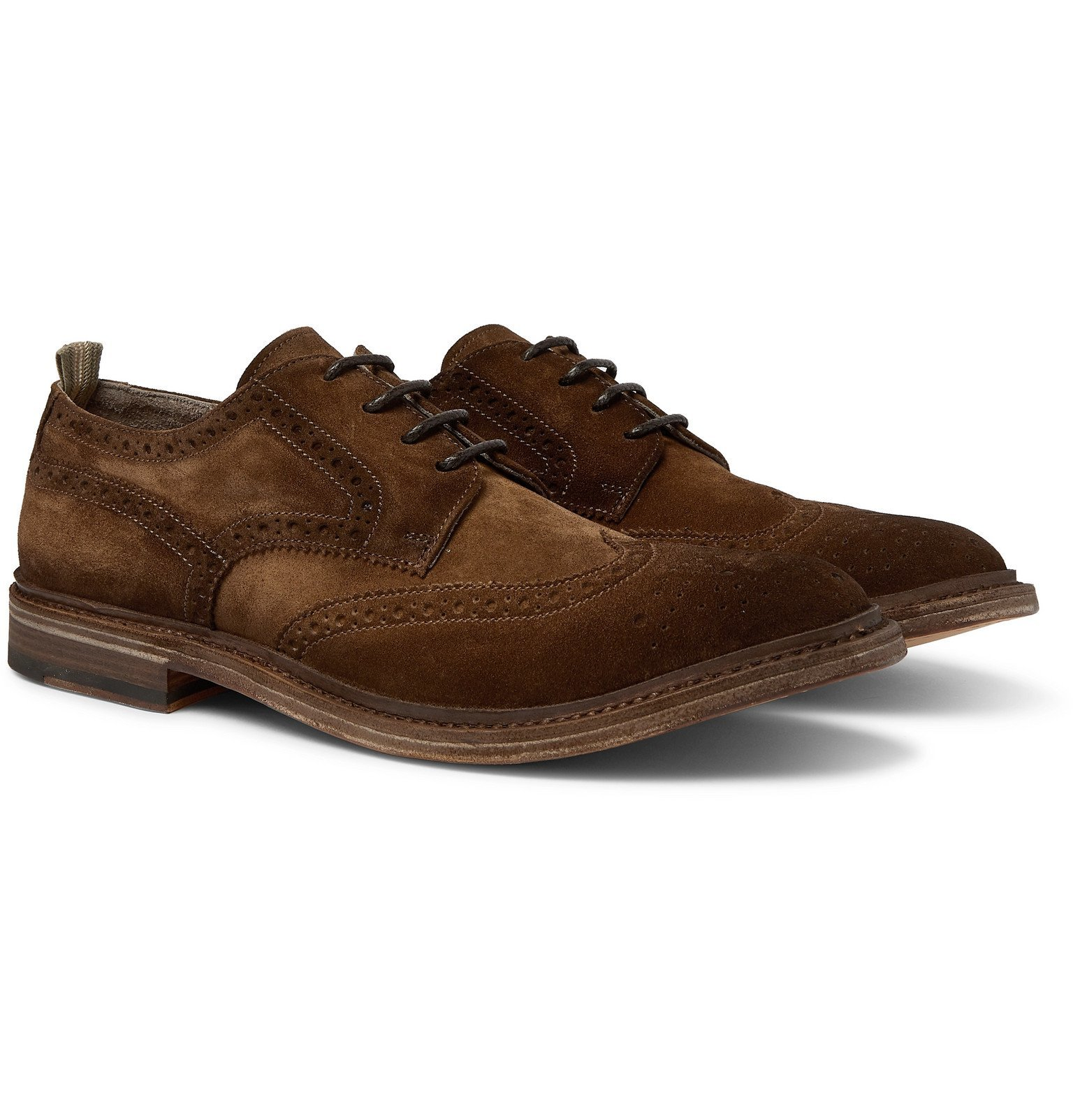 Photo: Officine Creative - Durham Suede Brogues - Brown