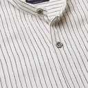 GIORGIO ARMANI - Grandad-Collar Striped Jacquard Shirt - Neutrals