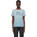 RRL Blue Standard Logo T-Shirt