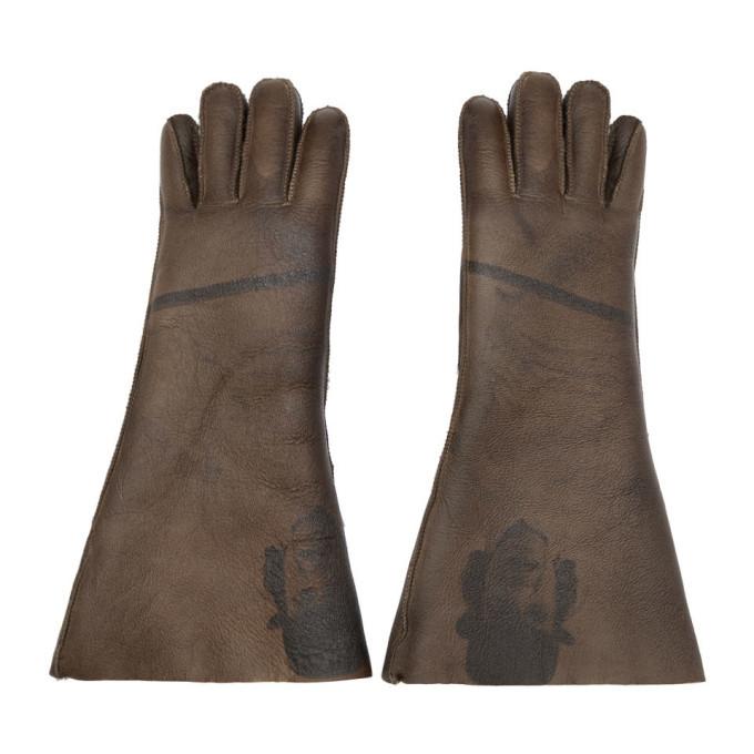 Photo: Undercover Brown Shearling A Clockwork Orange Alex Gloves