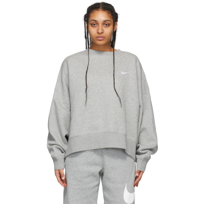 Photo: Nike Grey Sportswear Essentials Sweatshirt