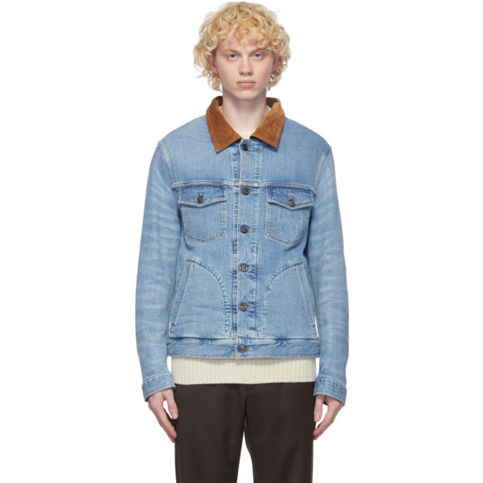 Photo: Brioni Blue Denim Trucker Jacket