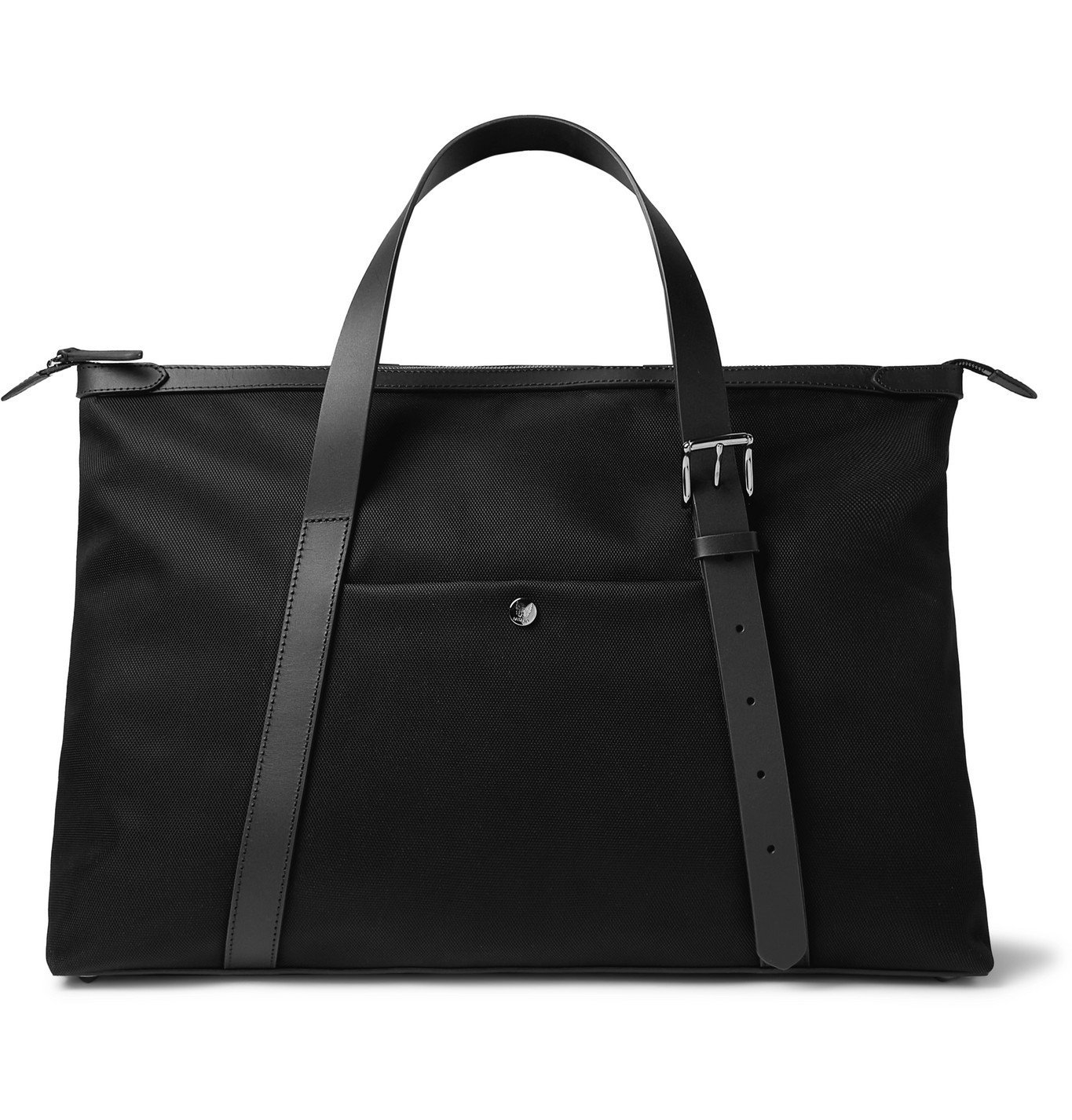 Photo: MISMO - Leather-Trimmed Nylon Holdall - Black