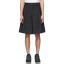 Comme des Garcons Homme Plus Navy Chalk Stripe Shorts