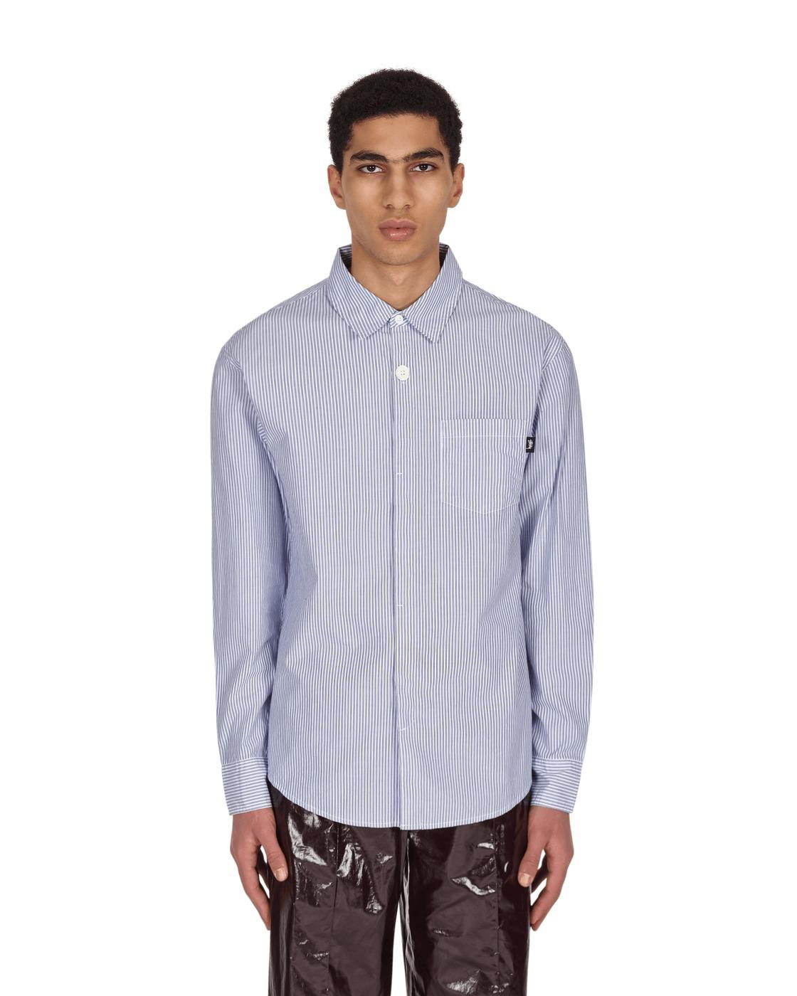 Photo: Stussy Big Button Stripe Shirt Blue Stripe